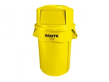 Contenedor Brute® Rubbermaid 121 litros FG263200YEL  con Tapa Domo 12829399 Amarillo
