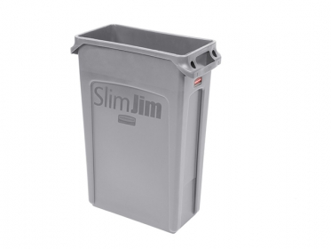 Contenedor Slim Jim® 87 litros Gris Rubbermaid FG354060GRAY