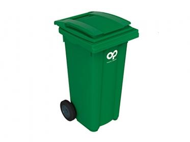 Contenedor de Basura con Ruedas y Tapa de 120 Litros Verde Marca: Plastic Omnium