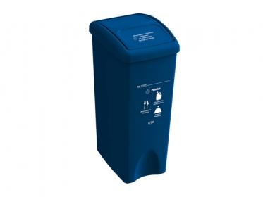 Papelera con Tapa Vaivén  53 Litros Azul (Plástico) Estra 235787D-1003