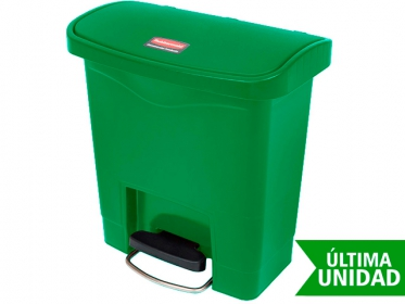 Papelera de Pedal Slim Jim Step-On 15 Litros Verde Rubbermaid 1883581